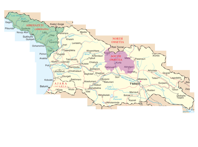 Country of Georgia on Google Maps